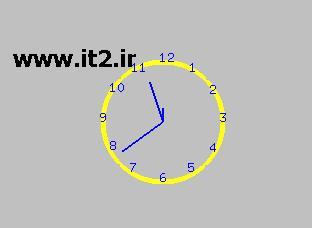 سورس ساعت عقربه ای با open gl -- www.it2.ir