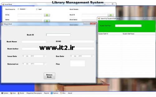سورس مدیریت کتابخانه به زبان وی بی دات نت -- www.it2.ir